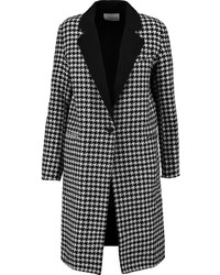 Sandro Morane Houndstooth Wool Blend Coat