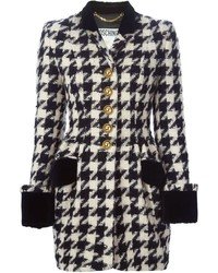 Moschino vintage houndstooth coat medium 407049