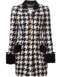 Moschino vintage houndstooth coat medium 407049