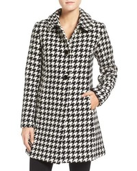 New york houndstooth wool blend coat medium 1159990