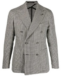 Tagliatore Houndstooth Double Breasted Blazer