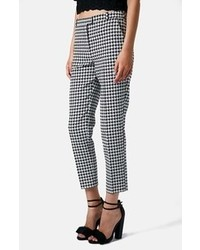 Topshop Houndstooth Cigarette Trousers