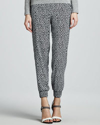 Theory Persha Houndstooth Print Pants