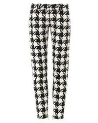 White and Black Houndstooth Leggings