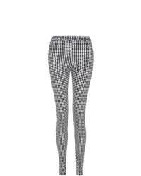 Exclusives new look black houndstooth leggings medium 74420
