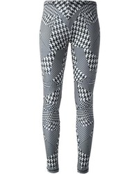 Mcq by alexander mcqueen houndstooth print leggings medium 74418