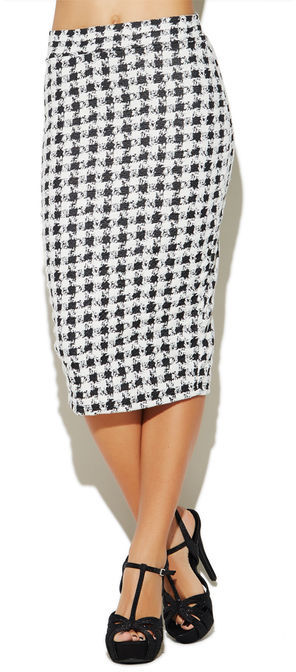 Arden B Checkered Knit Midi Skirt | Where to buy & how to wear