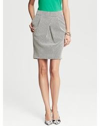 Banana Republic Houndstooth Tulip Skirt