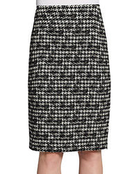 Lafayette 148 New York Houndstooth Pencil Skirt