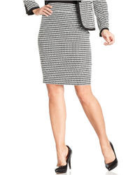 Skirt houndstooth slim pencil medium 13824