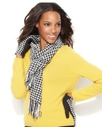 Charter club scarf chenille houndstooth medium 331682
