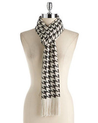 Joolay houndstooth metallic scarf medium 60743
