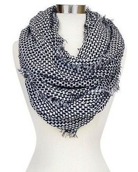 Soft Houndstooth Print Infinity Scarf