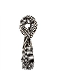 Top Quality Products Andrew Houndstooth Scarf Blackwhite