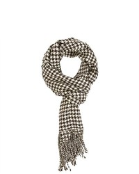 Top Quality Products Andrew Houndstooth Scarf Browncream