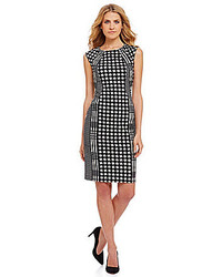 Houndstooth plaid sheath dress medium 128289
