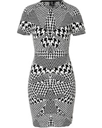 McQ by Alexander McQueen Mcq Alexander Mcqueen Optical Houndstooth Print Dress