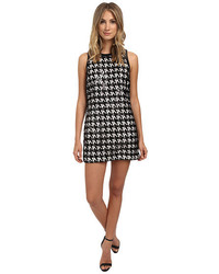 Zadie houndstooth lace sequin dress medium 1159976