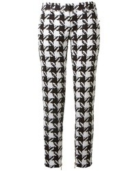 Houndstooth straight leg trousers medium 31250
