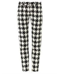 Houndstooth tapered leg trousers medium 31251