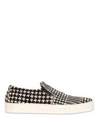 Collection privee houndstooth ponyskin slip on sneakers medium 84926