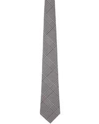 Comme des Garcons Homme Deux Black Grey Silk Glen Check Tie