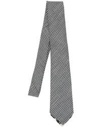 Micro houndstooth tie w printed tipping medium 790826