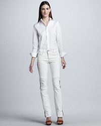 White and Black Jeans