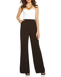 GUESS Dotted Strapless Jumpsuit