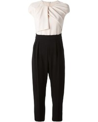 Max Mara Colour Block Pleated Jumpsuit