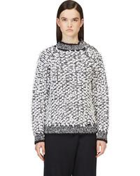 Balmain Black White Loop Knit Sweater