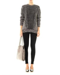 e51136e25 Stella McCartney Monochrome Angora Wool Sweater