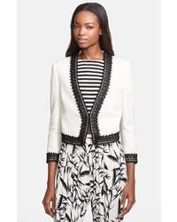 White and Black Lace Blazer