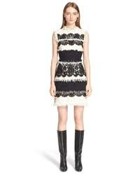 Lanvin Tweed Lace Sleeveless Dress