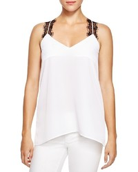 White and Black Lace Tank