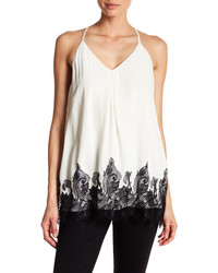 Alice + Olivia Front Pleat Racerback Tank