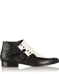 McQ by Alexander McQueen Mcq Alexander Mcqueen Two Tone Leather Ankle Boots