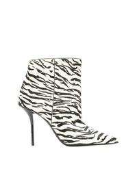Saint Laurent Pier Zebra Print Booties