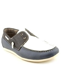 MADDEN MEN M Briggs Blue Leather Boat Shoes