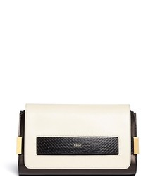 Chloé Chlo Elle Small Ayers Trim Leather Clutch