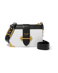Prada Cahier Large Two Tone Leather Shoulder Bag