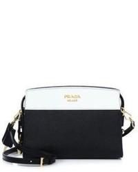 Prada Mini Esplanade Leather Crossbody Bag