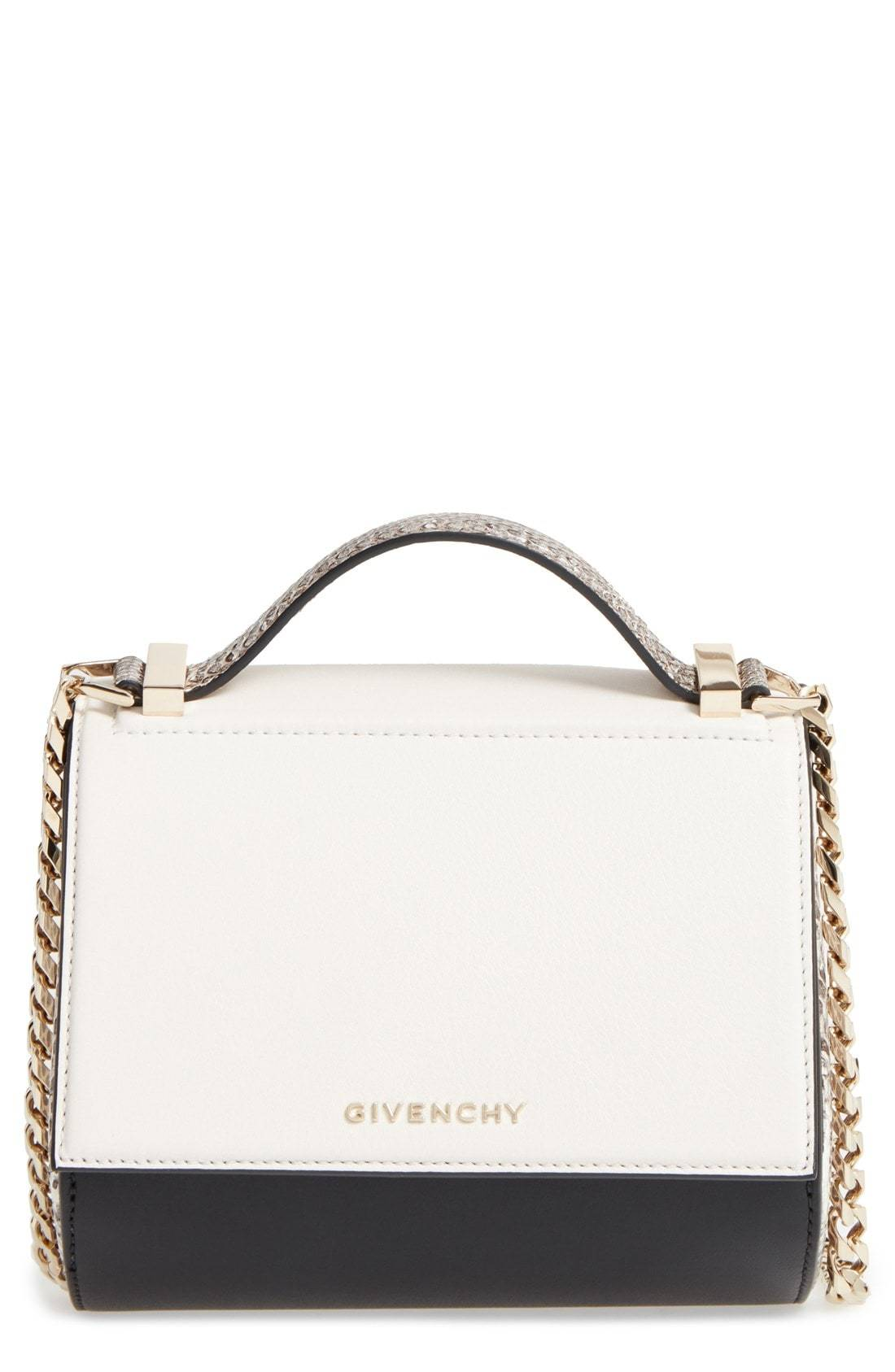309133c10c Givenchy Pandora Box Genuine Snakeskin Crossbody Bag