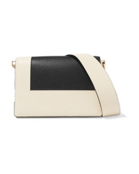 Valextra Swing Two Tone Textured Leather Shoulder Bag