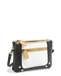 Under One Sky Colorblock Crossbody Bag Black White Tan One Size