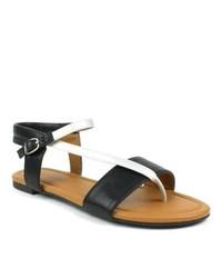 Mark & Maddux Mark And Maddux Paul 03 Black Strappy Flat Sandals