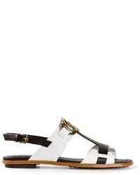 Tod's Monochrome Flat Sandals