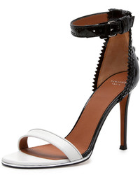 Givenchy Brogue Back Bicolor Ankle Wrap Sandal