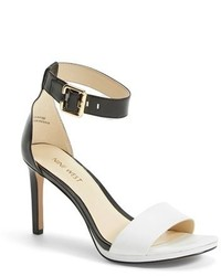Nine West Meant To Be Minimal Leather Ankle Strap Sandal