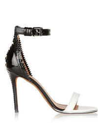 Givenchy Nadia Sandals In White And Black Leather